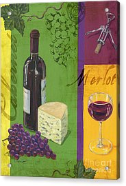 Contemporary Wine Collage I Acrylic Print by Paul Brent