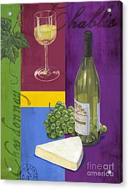 Contemporary Wine Collage II Acrylic Print by Paul Brent