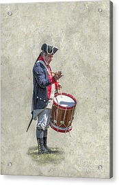 Acrylic Print featuring the digital art Continental Army Drummer American Revolution by Randy Steele