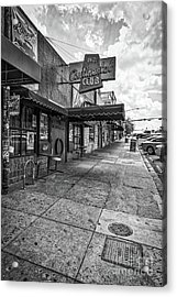 Continental Club Austin Black And White Acrylic Print