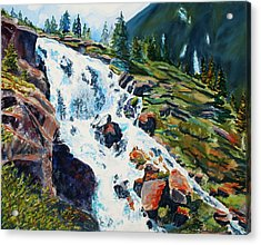 Continental Falls Revisited Acrylic Print by Mary Benke