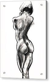Contra Posta Female Nude Acrylic Print by Roz McQuillan