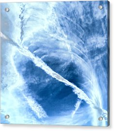 Contrail Concentricities Acrylic Print