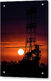 Acrylic Print featuring the photograph Contrast Of Two Powers by April Reppucci