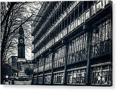Contrasting Architecture Of Hamburg  Acrylic Print