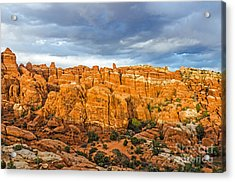 Contrasts In Arches National Park Acrylic Print