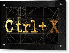 Acrylic Print featuring the digital art Control X - Cut by Serge Averbukh