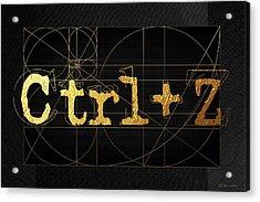 Acrylic Print featuring the digital art Control Z - Undo by Serge Averbukh