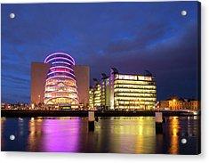 Convention Centre Dublin And Pwc Building In Dublin, Ireland Acrylic Print