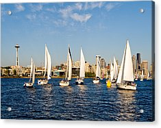 Converge On Seattle Acrylic Print by Tom Dowd