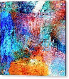 Acrylic Print featuring the painting Convergence by Dominic Piperata