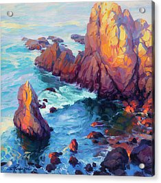 Acrylic Print featuring the painting Convergence by Steve Henderson