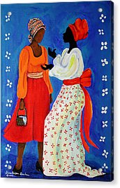 Conversation Acrylic Print by Diane Britton Dunham