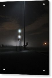 Acrylic Print featuring the photograph Conversation In The Mist by Digital Art Cafe