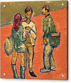 Conversation On Campus Acrylic Print by Clarence Major