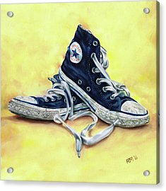 Converse Allstars Acrylic Print by Richard Mountford