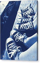 Converse Blues Acrylic Print by JAMART Photography