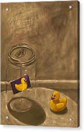 Conversing Ducks Acrylic Print