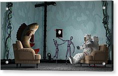Conversing With Demons At 2 Am Acrylic Print by Brainwave Pictures