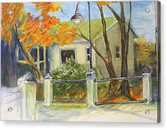 Conway Fish House Acrylic Print by Sandra Taylor-Hedges