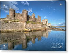 Conwy Castle Acrylic Print by Adrian Evans