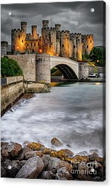 Conwy Castle At Night Acrylic Print