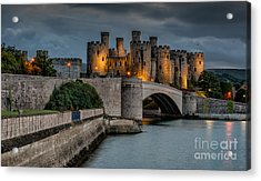 Conwy Castle By Lamplight Acrylic Print
