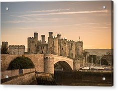 Conwy Castle Sunset Acrylic Print by Christine Smart