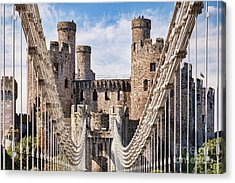 Acrylic Print featuring the photograph Conwy Castle Wales by Colin and Linda McKie