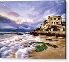Coogee Beach Acrylic Print by Alex Zolotar