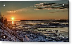Acrylic Print featuring the photograph Cook Inlet Sunset Alaska  by Michael Rogers