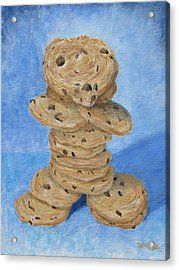 Acrylic Print featuring the painting Cookie Monster by Nancy Nale