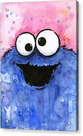 Cookie Monster Acrylic Print by Olga Shvartsur
