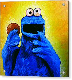 Cookie Monster Acrylic Print by Steve Hunter