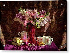 Cookies, Coffee And Comfort Acrylic Print by Wendy Blomseth