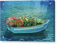 Acrylic Print featuring the photograph Cool Blue Boat Parade by Aimee L Maher Photography and Art Visit ALMGallerydotcom