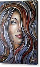 Cool Blue Smile 070709 Acrylic Print by Selena Boron