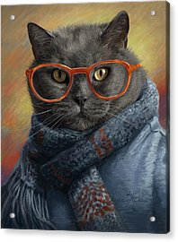 Cool Cat Acrylic Print