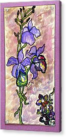 Cool Flower Study Acrylic Print by Tammera Malicki-Wong