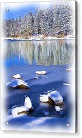Cool Impression Acrylic Print by Chris Brannen