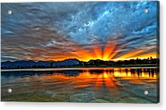 Acrylic Print featuring the photograph Cool Nightfall by Eric Dee