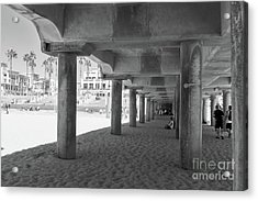 Acrylic Print featuring the photograph Cool Off In The Shade Of The Pier by Ana V Ramirez