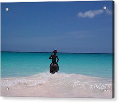 Acrylic Print featuring the photograph Cool Off Man by Mary-Lee Sanders