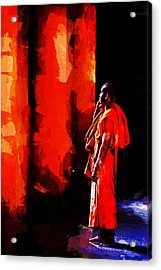 Cool Orange Monk Acrylic Print