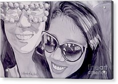 Acrylic Print featuring the painting Cool Shades by Yolanda Koh