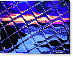 Cool Tile Reflection Acrylic Print by Stephen Younts