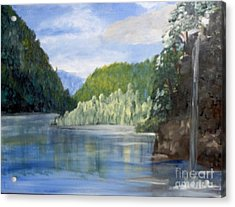 Acrylic Print featuring the painting Cool Water by Saundra Johnson