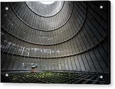 Acrylic Print featuring the photograph Cooling Tower Secret Little House by Dirk Ercken