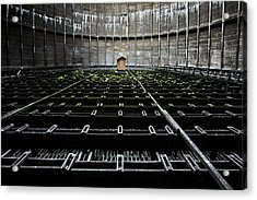 Acrylic Print featuring the photograph Cooling Tower Water Distribution by Dirk Ercken