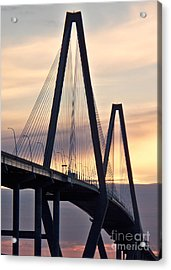 Cooper River Bridge Acrylic Print by Melanie Snipes